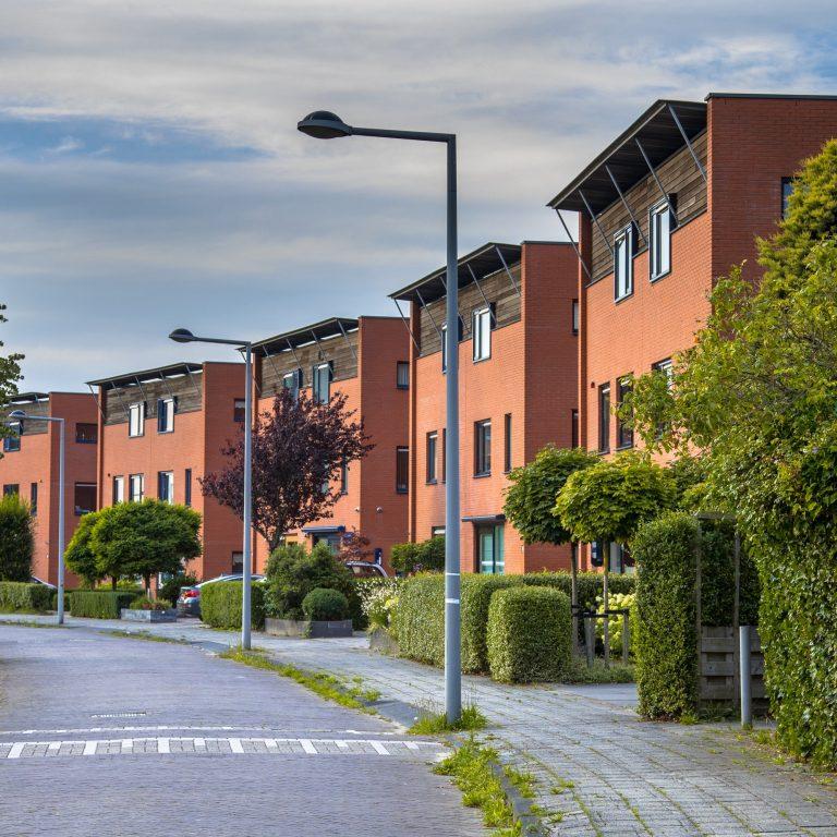 Modern futuristic neighborhood